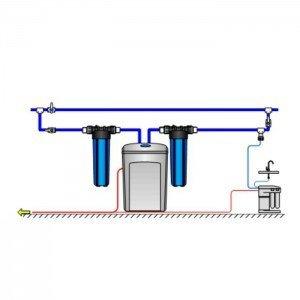 Аквафор WaterBoss 400 + Гросс 2 шт. + Морион + Соль 2 мешка. Эко-программа