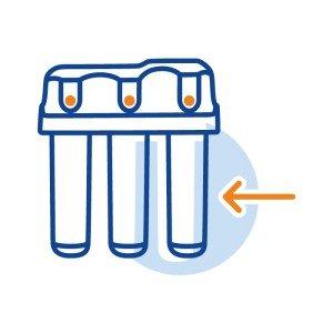 Монтаж клапана защиты от протечек